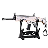 """KOBWA Fortnite Arma Scar Guns Pistola 3D Modelo Llavero de Metal, Tamaño 6.8""""/ 17cm, Regalo Accesorios Cosas Objetos de Juego para Niños Hombre Juego Fans"""