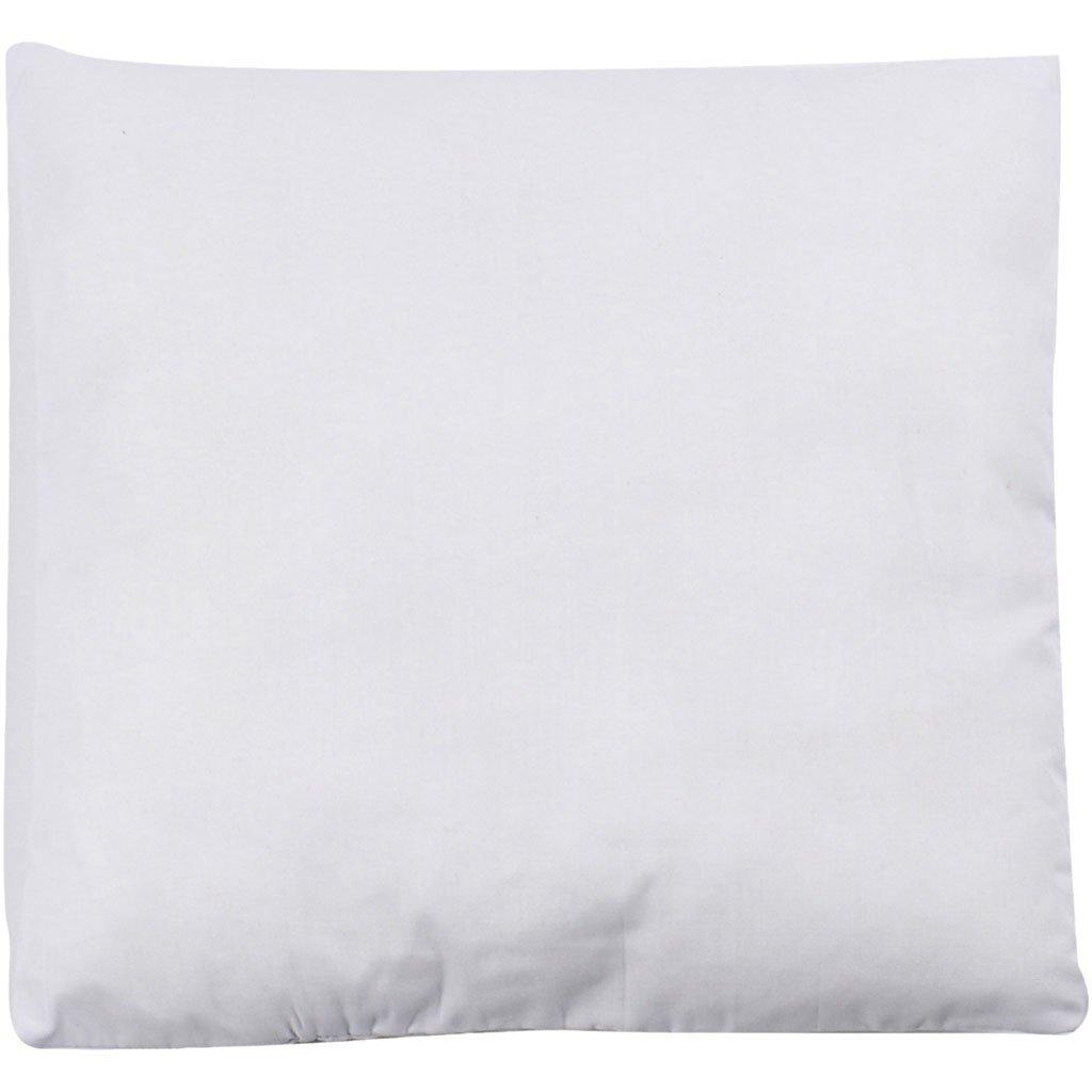 garnissage 100 g Oreiller rembourr/é 1 pi/èce. taille 25 x 25 cm blanc