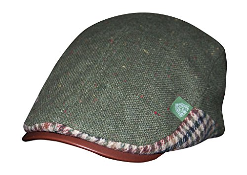 Croker Olive Green Flecked Ivy Flatcap, One Size Fits All Mens Hat