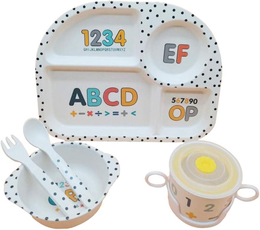 sp/ülmaschinenfest Kleinkind-Besteck BAP Free 5-teiliges Bambus-Geschirr-Set f/ür Kinder Bambussch/üssel und Kindertasse bestehend aus Kinder-Bambus-Teller Cartoon-Design Corsair