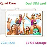 TYD 10.1 inch Unlocked 3G Call Phone WiFi Tablet PC Octa Core Android 6.0 Lollipop 2GB+ 32G Smart Phone 2G 3G WiFi Google Tablet IPS 1920X1080 GPS Cellphone 107-White