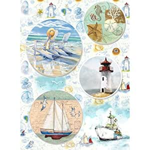 Amazon.com: Rice paper for decoupage. On the sea (~ 11, 1