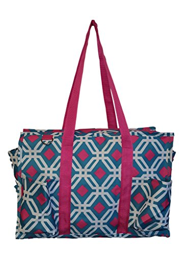 Personalized Tote Overnight Bag (Fashion Print Zipper Top Organizing Beach Bag Tote Diaper Bag Overnight Weekender - 16