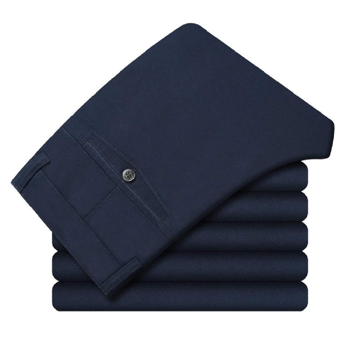 YUNY Mens Hi-Waist Baggy Leisure Straight Chino Pants Trousers 2 S
