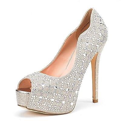 DREAM PAIRS Women's Swan-25 High Heels Platform Dress Pump Shoes