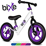 "Purple (4LBS) Aluminum Balance Bike for Kids and Toddlers - 12"" No Pedal Sport Training Bicycle for Children Ages 3,4,5,6. -  Bixe"