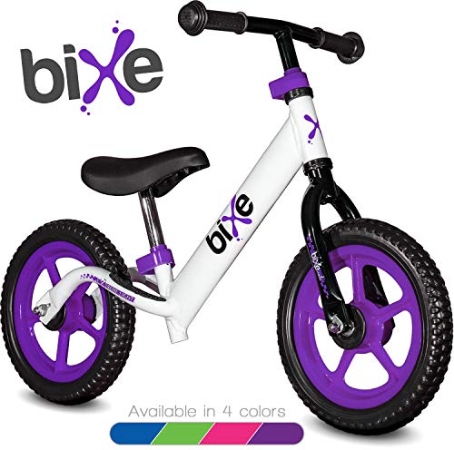 Purple (4LBS) Aluminum Balance Bike for Kids and Toddlers - 12