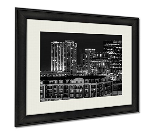 Ashley Framed Prints The Legg Mason Building And Others During Twilight From Federal  Wall Art Home Decoration  Black White  30X35  Frame Size   Ag5645950