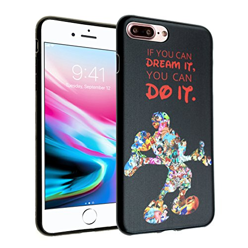 Disney Mickey Quotes iPhone 8 Plus Case, iPhone 7 Plus Case, IMAGITOUCH Anti-Scratch Shock Proof Slim Fit Flexible TPU Case Bumper Cover for iPhone 8 Plus / 7 Plus Mickey Mouse Quotes Bumper