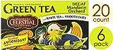 Celestial Seasonings Green Tea, Decaf Mandarin Orchard, 20 Count (Pack of 6)
