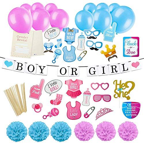 Gender Reveal Party Supplies Kit - Baby Gender