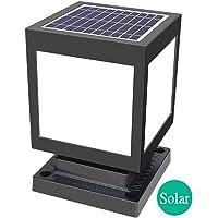 AWISAWIS Lámpara de Poste Solar, Luz de Jardín Modernas Impermeable en ABS Luz de Trayectoria, Lámpara de Exterior Negra…