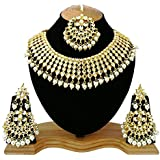 YouBella Jewellery Sets for Women Gold Plated Kundan Wedding Bridal Necklace Jewellery Set with Earrings for Girls/Women