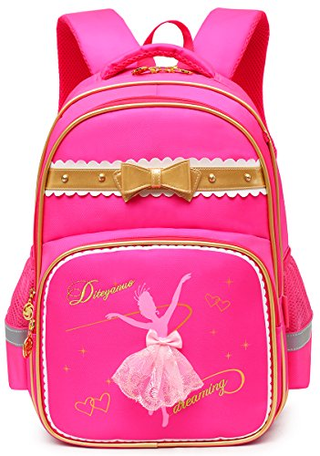 Moonmo Girls Waterproof Ballet Girl Dancing Princess School Backpack Bookbag (Large, ballet rose2) (Barbie And The 12 Dancing Princesses Names)