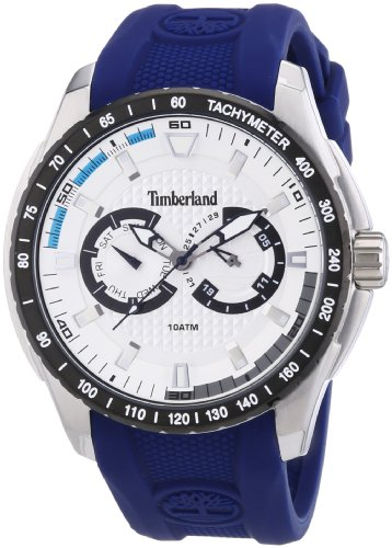 Timberland 13854JSTB.04 Mens Juniper Chronograph Blue Silicone Watch