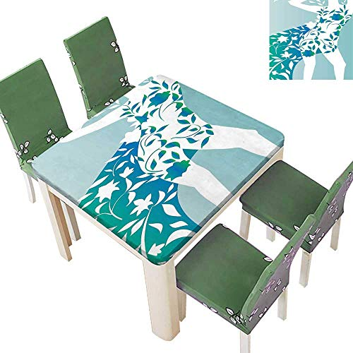 - Printsonne Eco-Friendly and Safe Girl Body Flower Petal Trendy Modern Model Image Turquoise Teal Multi Colors & Sizes 50 x 50 Inch (Elastic Edge)