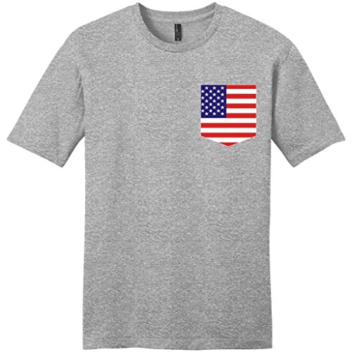 American Patriotic Preppy Pocket T Shirt