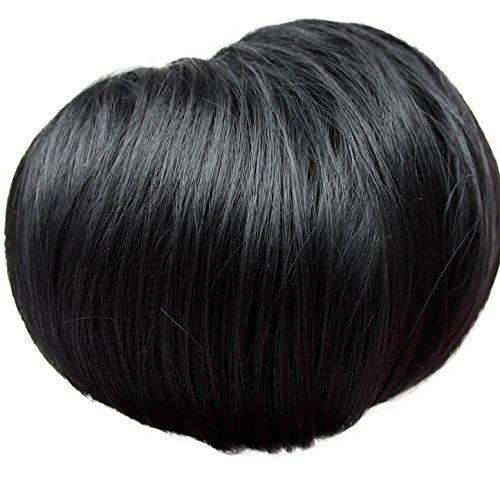 Dutt Haarteil Zopf Haarknoten Hepburn-Dutt Haargummi schwarz - #1 (hd2)
