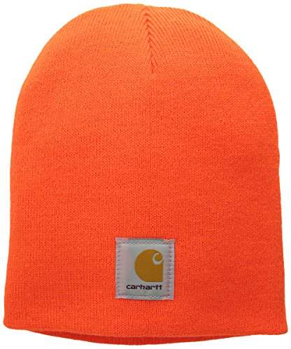 (Carhartt Men's Acrylic Knit Hat, Brite Orange, One Size )
