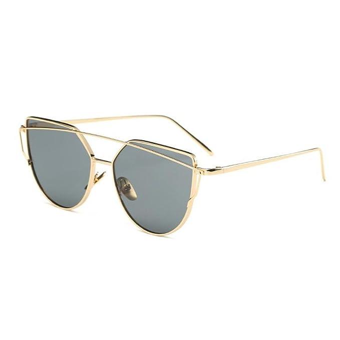 Amazon.com: Ojo de gato espejo UV400 anteojos de sol con ...
