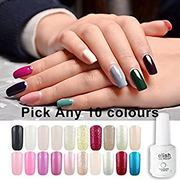 Amazon Com Frenshion 15ml Soak Off Uv Led Semi Permanent Nail Gel