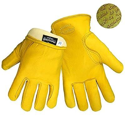 Insulated Deerskin Gloves Premium Grade/thinsulate 1 Pair Medium