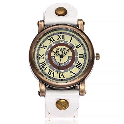 Women watch,YJYdada CCQ Women's Casual Quartz Leather Band Newv Strap Watch Analog Wrist Watch (Tiffany Letter Opener)