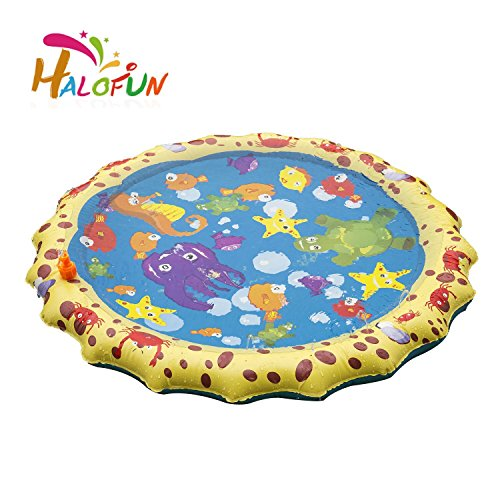 HALOFUN 39in-Diameter Sprinkle and Splash Play Mat Toy for ()