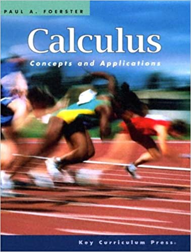 Calculus concepts and applications paul a foerster 9781559536547 calculus concepts and applications paul a foerster 9781559536547 amazon books fandeluxe Gallery