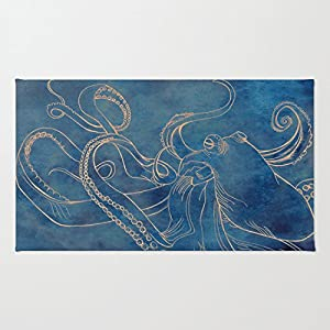 51853NmAJhL._SS300_ 50+ Octopus Rugs and Octopus Area Rugs For 2020