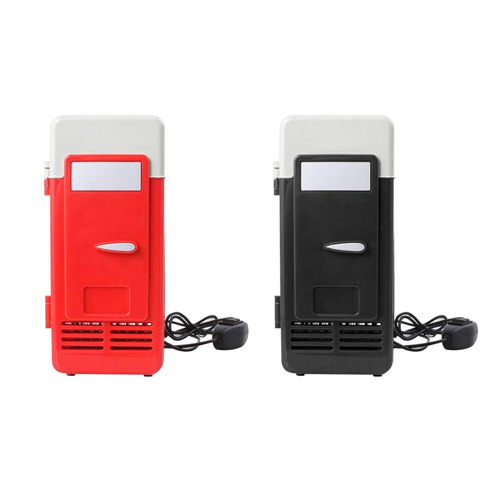Hihey Mini K/ühlbox Mini K/ühlschrank USB Gadget Getr/änkedosen K/ühler W/ärmer K/ühlschrank Mit LED Licht Auto Verwendung