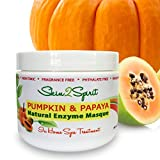 Pumpkin and Papaya Natural Enzyme Face Mask   Gently Exfoliate & Moisturize Face   Natural and Organic Ingredients   Vegan   Cruelty Free   Spa in a Jar   Large 4 Oz Jar! For Sale