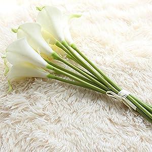 Angel3292 1Pc Artificial Calla Lily Silk Flower Bridal Bouquet Wedding Home Romantic Decor 5