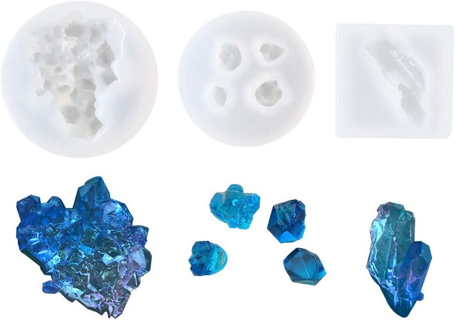 Crystal Geometric Jewelry Making Tools Mold Pendant Silicone Stone Resin KV