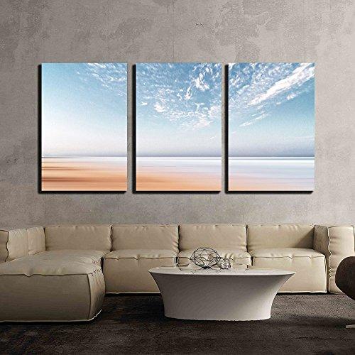 Light Blue Sky and Seashore x3 Panels