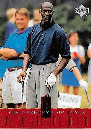 Michael Jordan basketball card (Chicago Bulls SG) 1998 Upper Deck #125 Golfing