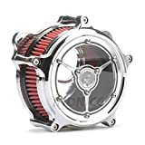 Chrome Clarity Air cleaner harley street glide air filter road king air intake system For Harley Touring road glide air cleaner 08-16