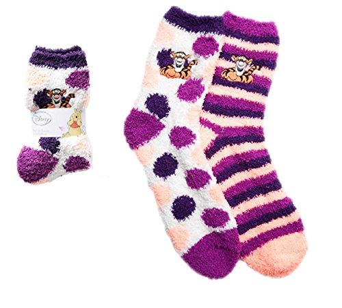 Disney Ladies Winnie the Pooh Tigre Softies Crew Socks (Pooh Socks)
