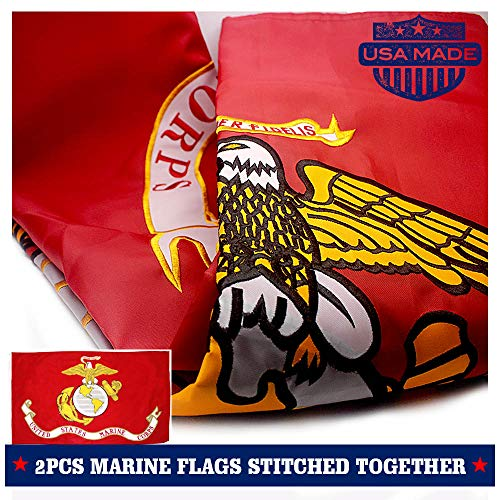 VSVO US Marine Corps USMC Flag 3x5ft. with 2-Sided Embroider