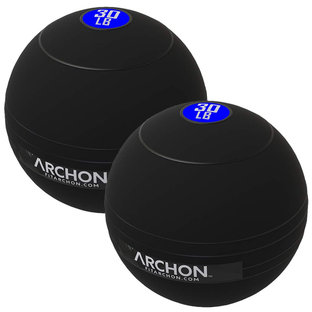 ARCHON Training 30 LB and 30 LB Pound Slam Ball Set | Crossfit Workout | No Bounce Exercise Ball | Gym Equipment Accessories | Plyometric Exercise | Cardio | Jam Ball | Squats | Medicine Ball