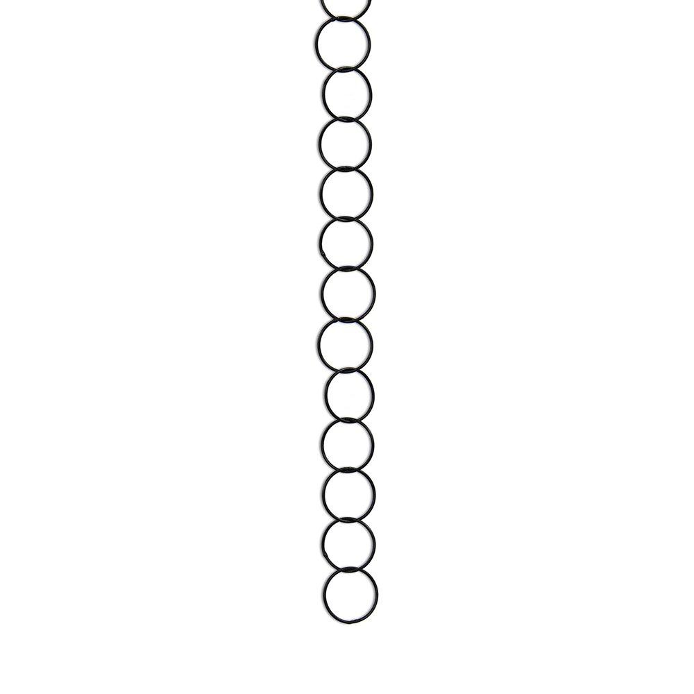RCH Hardware CH-41S-OBB-3 Round 1 inch Diameter, Using 17swg Wire, Solid Brass Chain (Oil Bronzed Black)