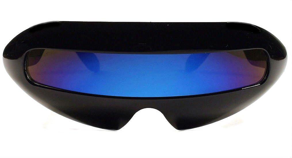 KISS Futuristic Cyclops Mirror Single Lens Oval Sunglasses Green)