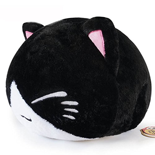 Big Plush Cat (Super Cute Fluffy Big Cat Plush Toy Plush Pillow 38CM Black by seemehappy)