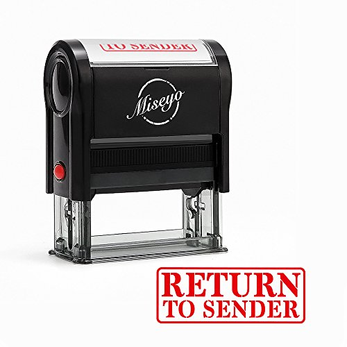 Miseyo Return to Sender Self Inking Rubber Stamp - Red Ink - Large - Rubber Sender