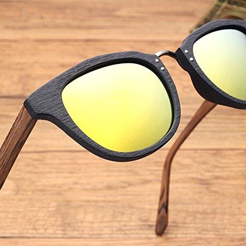 Madera Similar C86 Gafas De YELLOW Gafas Unisex De Sol De Polarizadas TIANLIANG04 Amarillo Sol Retro De C86 Acetato gSAqwn7
