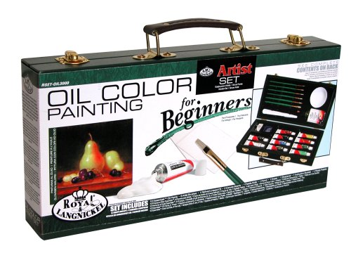 Royal and Langnickel Oil Color Painting Artist Set for Beginners (RSET-OIL3000) -