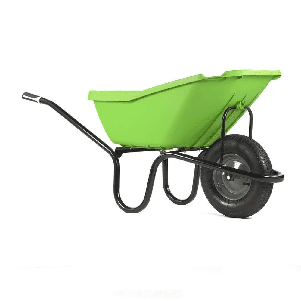 Haemmerlin Vibrante Pick Up Green 110LTR Polypropylene Wheelbarrow Puncture Free Tyre Lime Green