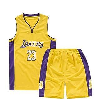 Ropa De Baloncesto para Niños: NBA 23# Lakers Lebron James, Camiseta De Verano para Niños, Camiseta, Top Sin Mangas Clásico Y Pantalones Transpirables ...