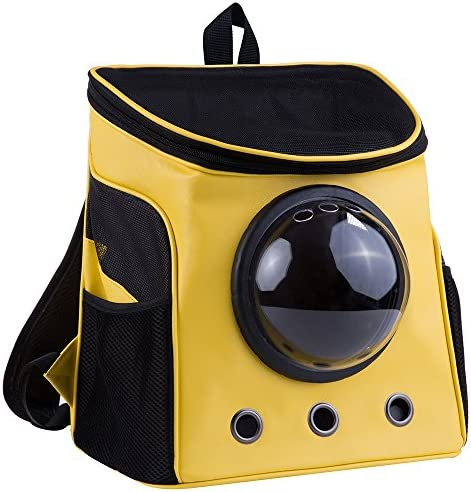 lolhpby Premium Quality Backpack-Breathable pet Carrier for Out Door,Light Burden for Travelling and Comfortable Bag,Capsule knapsack for Dogs and Other pet Animals with Transparent Window