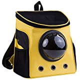 lolhpby Creative Pet Carriers Backpack- Traveler Bubble Cat Backpack- Capsule Knapsack for Dogs and Petite Animals- Breathable Pets Carrier for Outdoors-Portable/Transparent Window